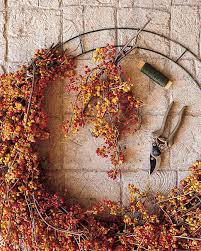 autumn wreath bittersweet autumn wreath martha stewart
