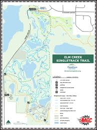 Buffalo Creek Trail Map Elm Creek Mountain Bike Park Map Maple Grove Plymouth Rogers
