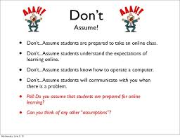 how to take an online class the dos and don ts of teaching online