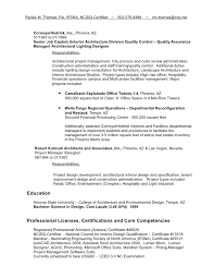 Project Manager Job Description For Resume by Architectural Project Manager Resume 17 Project Vendor Management