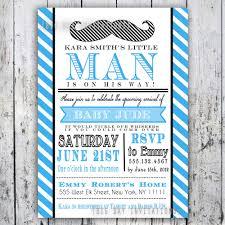 custom invites mustache baby shower invitation digital printable