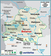 a map of europe with countries belarus map geography of belarus map of belarus worldatlas