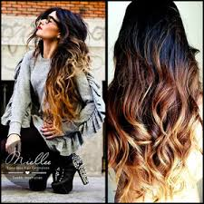 barrel curl hair pieces sunrise ombre hair extensions natural human hair weave