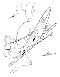 fighter aircraft drawings amd coloring sheets spitfire