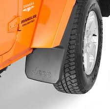orange jeep wrangler unlimited for sale mopar 82210233 front deluxe molded splash guards in black with