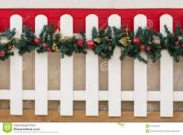picket fences picket fence and christmas decorations stock image image 45434209