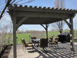 attractive before amp after 16x16 oversized timber frame pergola