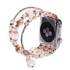 pearl bracelet elastic images Tomazon apple watch band fashion handmade elastic stretch faux pearl jpg
