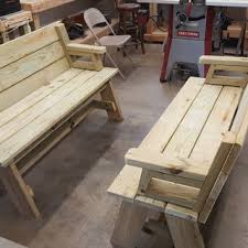 picnic table bench plans picnic table and bench combo plan rockler woodworking and hardware
