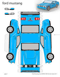 5 best images of paper car templates printable mustang paper car
