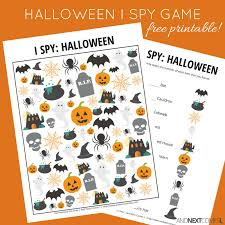 halloween themed i spy game free printable for kids and next