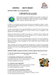 Colombia Libro De Lectura Grado 6   examen diagnostico sexto grado 25 reactivos