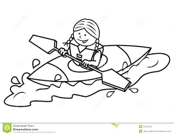 kayak and coloring book stock vector image 52227045
