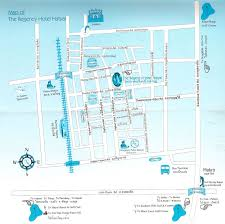 map of hat yai the regency hotel hatyai thailand