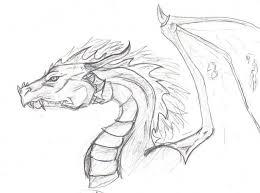 cool dragon drawings pencil art drawing