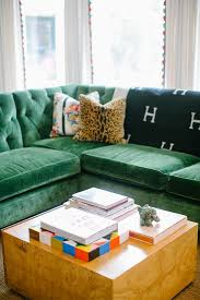 tufted green velvet sectional living room pinterest green