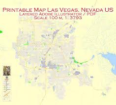 printable map of nevada map las vegas adobe illustrator city plan printable editable vector