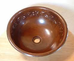 copper vessel sinks ebay copper sink copper vessel sink copper bathroom sink bathroom