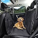 honest outfitters dog car seat cover with seat belt pet backseat