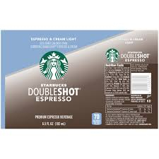 starbucks doubleshot vanilla light starbucks doubleshot espresso calories ug99