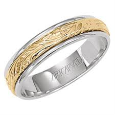 mens two tone wedding bands 11 wv4377 wistful mens 14k two tone wedding band from artcarved