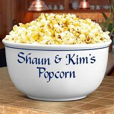 personalized bowl ceramic bowl bowls personalized bowls popcorn bowls