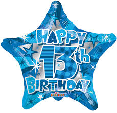 birthday boy 17in happy 13th birthday boy