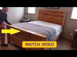 build a queen bed frame diy bed frame plans woodworking
