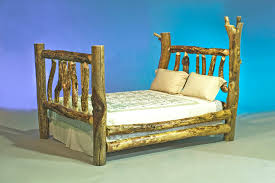 Pictures Of Log Beds by File Log Furniture Queen Bed Jpg Wikimedia Commons