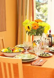 orange country dining room dining room decorating ideas lonny