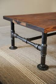 wood plank coffee table diy industrial coffee table totally green crafts