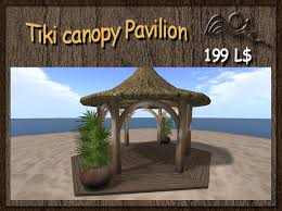 Tiki Outdoor Furniture by Second Life Marketplace Summer Feeling Tiki Canopy Pavilion