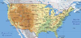 Color Map Of The United States by Geography Blog Physical Map Of The United States Of America