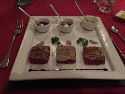 ad hoc cuisine trio of beef fillet tartar with truffles picture of ad hoc rome