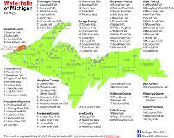 up michigan map michigan waterfall map