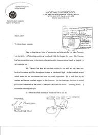 School No Letter Of Recommendation Letter Of Recommendation For Principal Free Resumes Tips