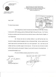 Letter Of Recommendation Teacher Template Letter Of Recommendation For Principal Free Resumes Tips