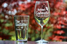 godmother wine glass custom engraved godfather glass godmother wine glass set
