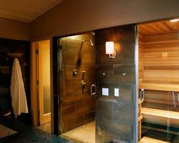 home steam room design with nifty home gym master bedroom design