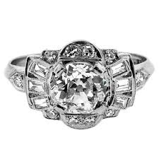 engagement rings sale deco cushion cut diamond engagement ring for sale at 1stdibs