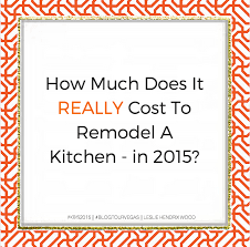 Cost To Remodel Kitchen by How Much Does It Cost To Remodel A Kitchen In 2015