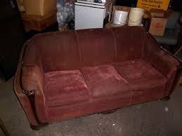 vintage couch 1950 u0027s sofa davenport old needs reupholstering wood
