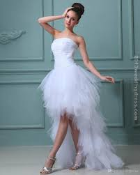 high low ruffle wedding dress discount high low wedding dress in front and in back