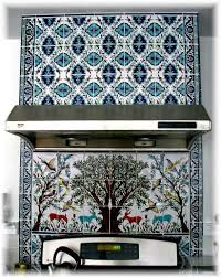 Ceramic Tile Murals For Kitchen Backsplash The Olive Tree Of Jerusalem Ceramics Tile Mural Balian Studio