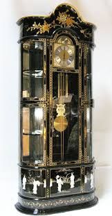 Kieninger Grandfather Clock Oriental Furniture Grandfather Clock Cabinet Black Lacquer Mother