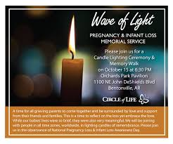 Infant Loss Candles Worldwide Candle Lighting Oct 15 U2013 Nwa Circle Of Life Hospice