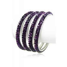 Set Of 4 Purple Bangles Set Of 4 Pieces
