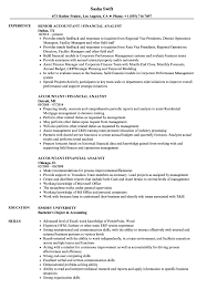 financial analyst resume exle accountant financial analyst resume sles velvet