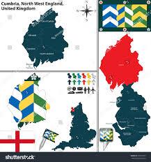 Blackburn Flags Vector Map Cumbria North West England Stock Vector 309567293