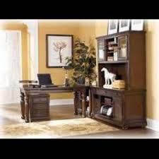 Office Furniture Ashley Furniture Porter Desk And Tall Credenza - Ashley office furniture
